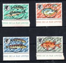 Ascension Island QEII 1970 superb used marginal Fish set #126-129 WS13881