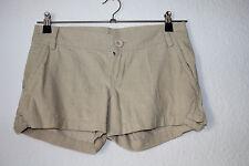 Damen-Hotpants Cord Beige von Mango, Größe 34