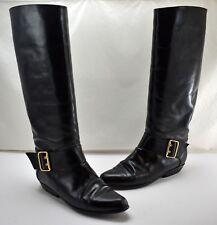 Lavorazione Artigiana Black Leather Knee High Boots  Women's 39 EU/8.5 US