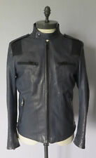 Gucci Blue Grey Leather Jacket (RRP