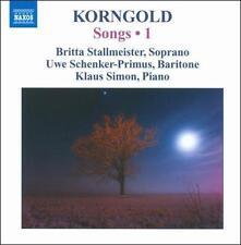 Korngold: Songs Vol 1, New Music
