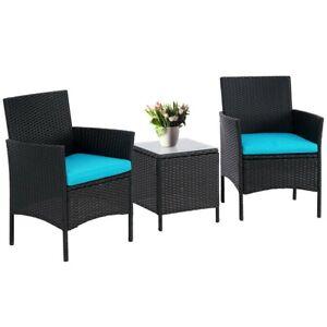 Suncrown 3-Piece Patio Outdoor Bistro Furniture Set