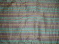 Vtg 40s Teal Purple Stripe Silky Blend Doll Sew Crafts Remnant Fabric 3yx20 #pb3