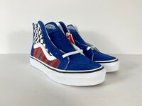 Vans Sk8-Hi Zip Plaid Checkerboard Shoes VN0A4BUXV3G New W/Box Kids Sz 12