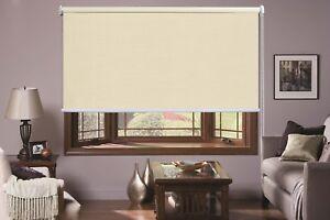 Luxurious Linen Textured 100% Blockout Roller Blinds 60-240cm 210cm Drop