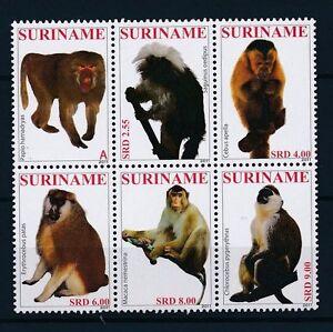 [SU1824] Suriname Surinam 2011 Primates Monkeys  MNH