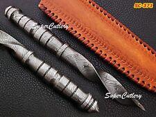 "Genuine 10"" Super Cutlery Custom Hand Forged Damascus Tri Dagger Full tang"