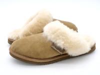 Eddie Bauer Womens 7 Tan Slip On Comfort Shearling Scuff Flat Slippers EUR 38
