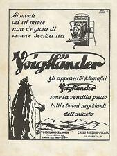 W0254 Apparecchi Fotografici VOIGTLANDER - Pubblicità 1930 - Advertising