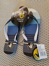 Body Glove Men's Old Skool Flip-Flop Sandals Cuda Blue Size 8 beach pool