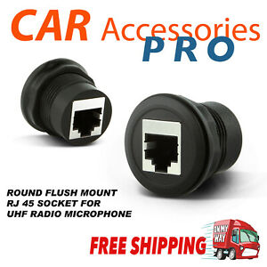 Universal RJ45 hand set Socket Outlet for UHF CB Radio UNIDEN GME ORICOM