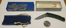 BUCK Treasury 527 LOCKBACK FOLDING POCKET knife Blue vintage USA Idaho mint NWB!