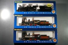 3 Bachman Steam Locomotives with Tender HO Scale