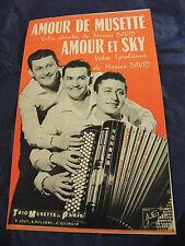 Partition Amour de MusetteMarius David Amour et Sky Trio Musette de Paris 1958