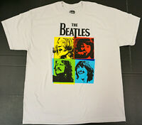 The BEATLES T-shirt Distressed Let It Be Fab Four Licensed Tee Men's XL New
