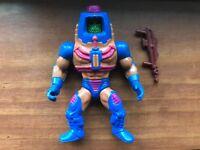 Man E Faces MOTU He-Man Vintage Mattel Variant Gun NM!