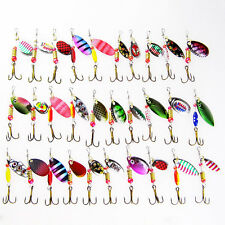 30Pcs/Lot Fishing Lures Set Mixed Color Metal Spoon Lures Hard Baits Artificial