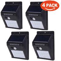 Waterproof 30 LED Solar Power PIR Motion Sensor Wall Light Outdoor Garden Lamp