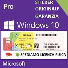 X10 LICENZA WINDOWS 10 PRO Professional 32 - 64 BIT STICKER COA license label