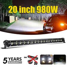 20 inch Ultra-Thin LED Light Bar Combo Beam Super Slim ATV IP68 12V Waterproof