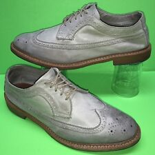 ALLEN EDMONDS Banchory Soft Leather Long Wing Brogue Oxford Dress Shoe 11 E Wide