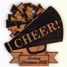 Personalized Cheer Wooden Christmas Ornament (FREE SHIPPING)