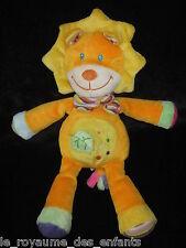 Doudou Lion orange et jaune Pommette 29 cm Intermarché