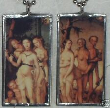 THREE GRACES / THREE AGES OF MAN  ART GLASS PENDANT