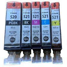 5x cartuchos originales para Canon PIXMA ip3600 ip4600 mp540 mp550 mp560 mp640