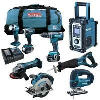 MAKITA LXT 18V 12tlg. Akku Werkzeug Set +DHP480Z Bohrschrauber +DJV180 RMJ
