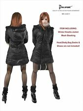 CC211 1/6 Clothing-Black Winter Hoodie Jacket set for HOT TOYS,VERY COOL TOYS