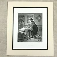 1878 Print Mother and baby Infant Child Victorian Painting Antique Engraving