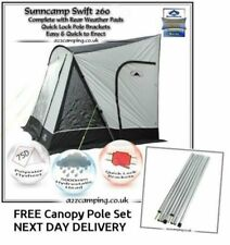 New 2018 Sunncamp Swift 260 Deluxe Caravan Porch Awning Plus Rear Upright Pads
