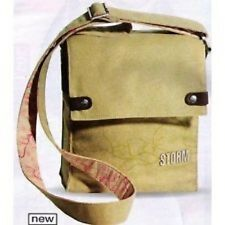 Storm London Messenger Bag Trinity Canvas 2010/Design/Beige/Pink/Flower/NEW