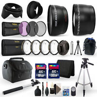 Complete Accessory Kit for Canon EOS SL2 SL3 T7 200D 250D 2000D DSLR Camera