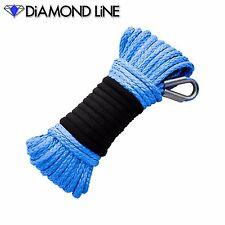 "50' x 3/16"" BLUE Diamond Synthetic Line Rope Cable UTV ATV Winch CUSTOM SPLICE"