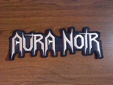 AURA NOIR,SEW ON WHITE EMBROIDERED LARGE BACK PATCH