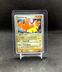 Pokemon Hariyama ex 100/107 EX Deoxys Light Use Ultra Rare Holo LP #1 Clean