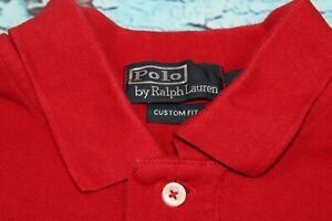 Ralph Lauren Mens Polo Shirt Long Sleeve Top Red Size S / Small Custom Fit