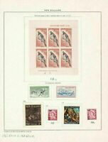 new zealand mounted mint  stamps on 2 sheets ref r8371