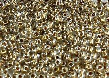 8/0 Gold-Lined Crystal Round Glass TOHO Seed Beads 10 grams #989