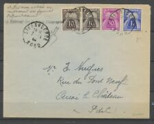 1944 Lettre affranchie avec Taxes au lieu des timbres RRR P1845
