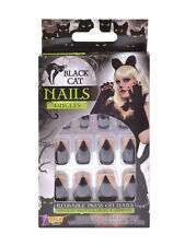 Horror Plastic False Fake Nails Halloween Fancy Dress Accessory Cat Claw Design