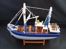 Wooden Fishing Trawler Boat Model Ornament Decoration.