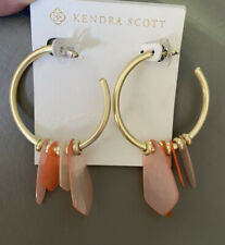 NWD Kendra Scott Gaby Hoop Earrings In Gold Peach Mix $120.00
