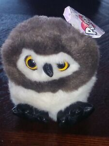 "Vintage Swibco Puffkins ""Olley""  Plush Stuffed Animal /Owl with Tags"