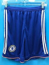 NEW Adidas 100% Polyester Youth Chelsea Football Club Shorts Color Blue Size L