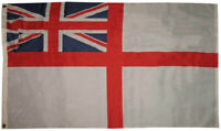 3x5 UK British Historical Naval Navy Ensign White Squadron Flag 3'x5' Banner