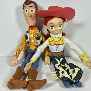 "Disney TOY STORY Woody & Jessie Talking Pull-String Doll Toys 15"" Both Work"