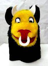Hand Puppet Bull with Horns Ring Black Yellow White Red Imagination Sheram New
